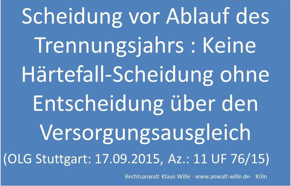 OLG-Stuttgart-Härtefall-Scheidung