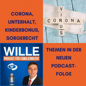 Corona, Unterhalt und Kinderbonus