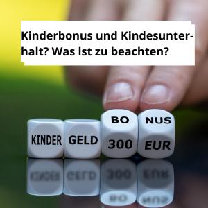 Kinderbonus und Kindesunterhalt