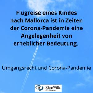 Flugreisen und Corono-Pandemie