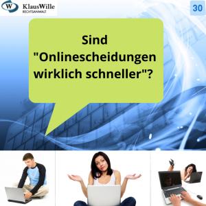 Internetscheidung und Onlinescheidung