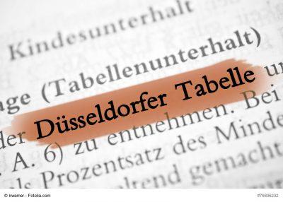 Die Düsseldorfer Tabelle ändert sich zum 01.01.2021 (Foto: kwarner/fotolia.com)