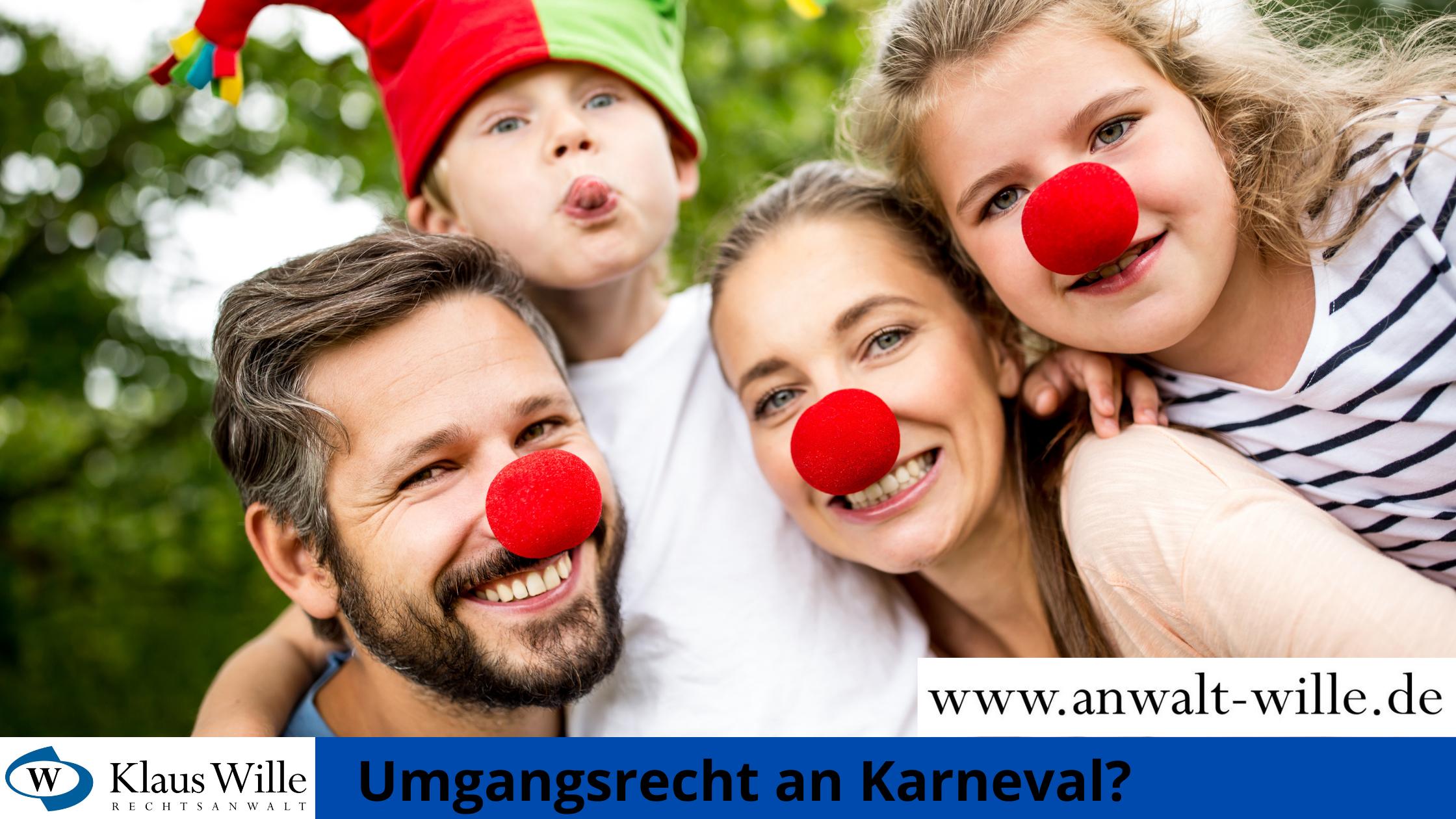 Umgangsrecht an Karneval - Rechtsanwalt Klaus Wille berät Sie (Foto: canva.com/Robert Kneschke)